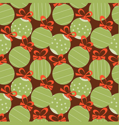 christmas festive seamless pattern decorative vector image