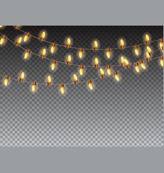 Christmas garland bulb on transparent background vector