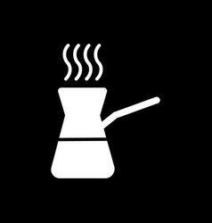 Coffee turk icon isolated on black vector