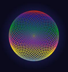 Color circle mandala geometric logo design vector