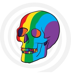 color skull vector image