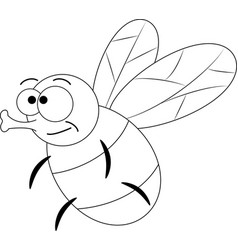 colorless funny cartoon fly vector image