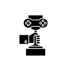 computer games championship black icon vector image