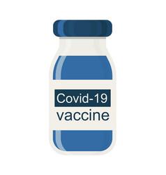 covid19-19 coronavirus vaccine bottle vector image