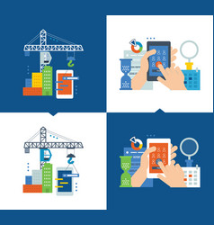 development of application and software research vector image