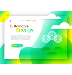 Eco friendly online web landing page template vector