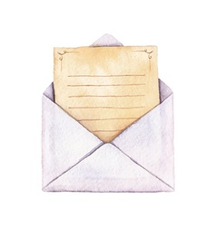 Envelope with a letter vector image