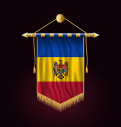 Flag of moldova festive vertical banner wall vector