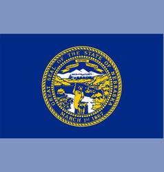 flag usa state nebraska vector image