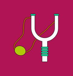 Flat icon design collection children slingshot vector