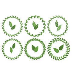 Floral spring wreaths isolated on white vector