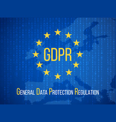 Gdpr general data protection regulation internet vector