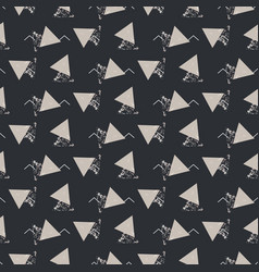 Geometric abstract triangle seamless dark gray vector