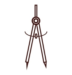 geometric compass utensil vector image