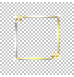 gold shiny glowing square on a isolated background vector image