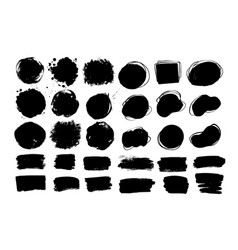 hand drawn paint daubs banners and forms vector image