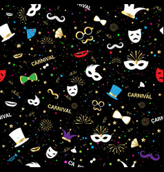 handmade venetian carnival face mask party vector image