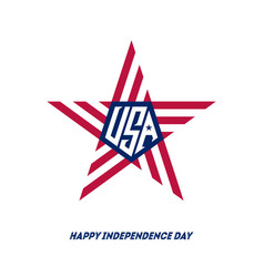happy independence day with star for 4th july vector image