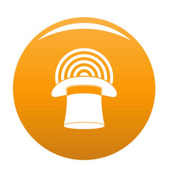 hat with glow icon orange vector image