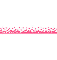 Hearts border vector