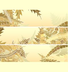 horizontal banners many different grass vector image