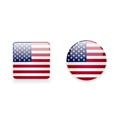 Icons with American flag vector image