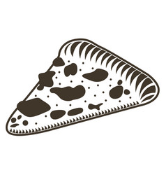 isolated slice of pizza sketch vector image