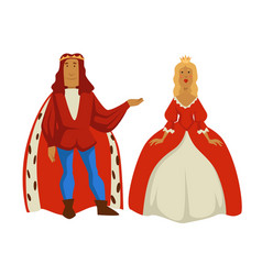king and queen monarchy medieval royal family vector image