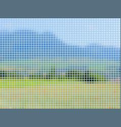 landscape mosaic vector image