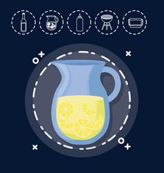 lemonade for family summer picnic vector image
