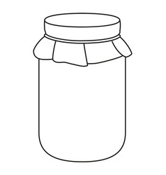 Line art black and white jam jar vector