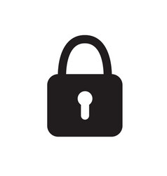 lock icon on white isolated background vector image