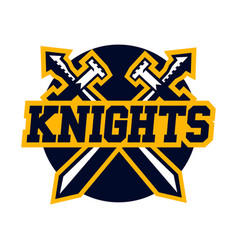 logo knights swords cross vector image