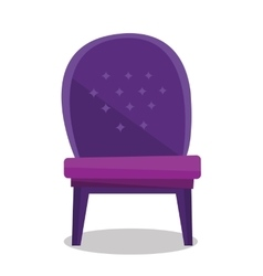 Luxurious vintage armchair vector image