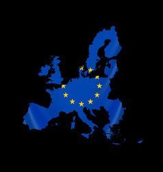 map european union and eu flag vector image