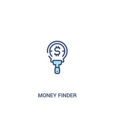 Money finder concept 2 colored icon simple line vector