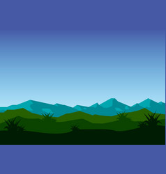mountains in the fog vector image