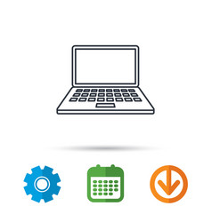 notebook icon mobile laptop sign vector image