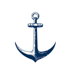 old sea anchor hand drawn vector image