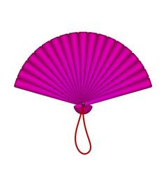 oriental fan in purple design vector image