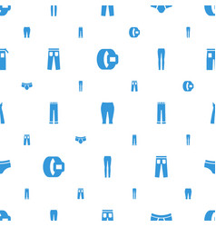 Pants icons pattern seamless white background vector