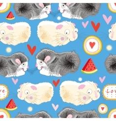 Pattern enamored hamster vector