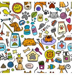 pet shop background for your design vector image