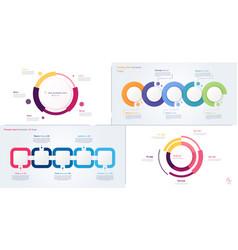 process and circle chart designs vector image