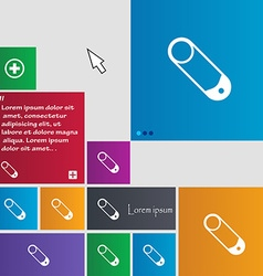 Pushpin icon sign buttons Modern interface website vector