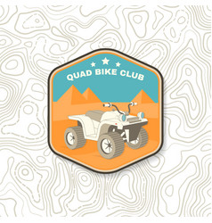 Quad bike club summer camp patch vector