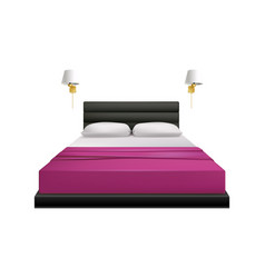 Realistic bed vector