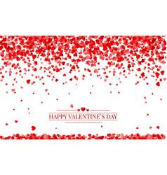 red pattern random falling hearts confetti vector image