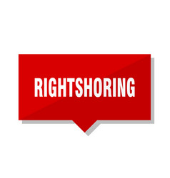 rightshoring red tag vector image
