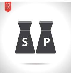 Salt and pepper icon vector